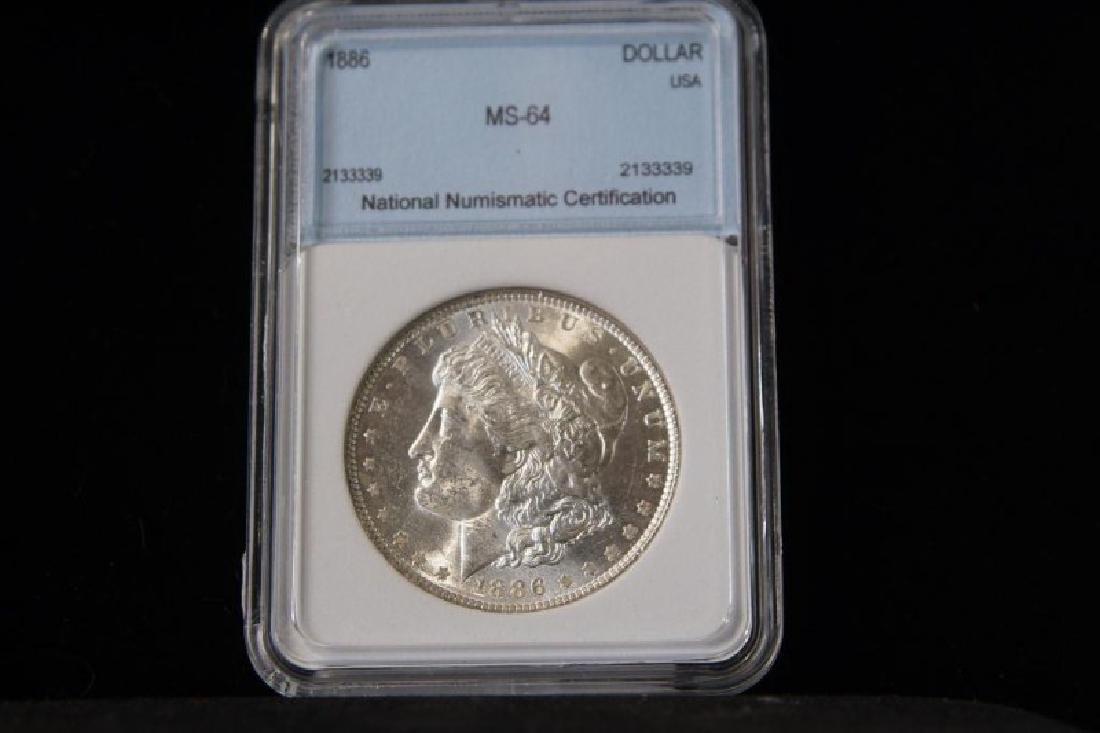 MORGAN SILVER DOLLAR 1886 MS 64