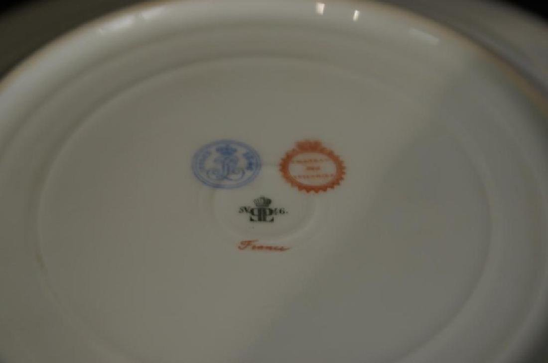 4 French Sevres Hand painted plates w Cherubs - 10