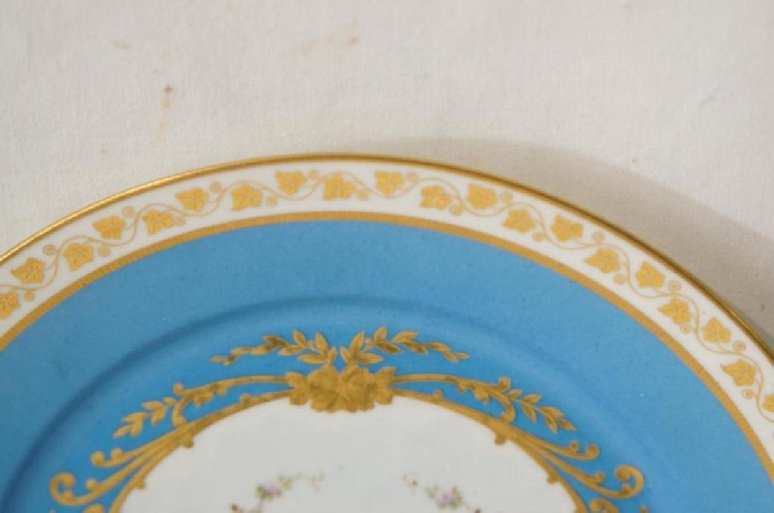 4 French Sevres Hand painted plates w Cherubs - 5