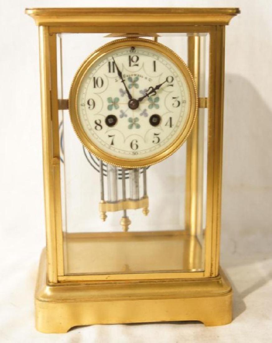 Antique French clock with mercury pendulum