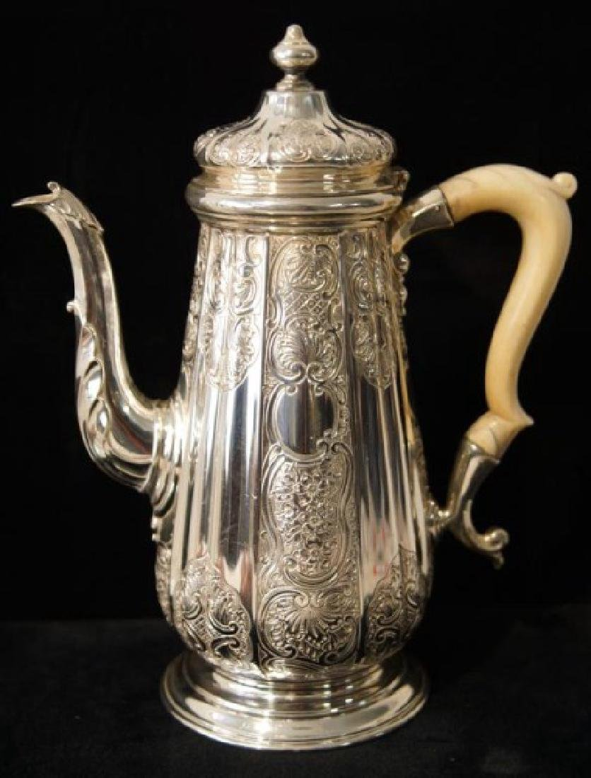 Fine Antique English Sterling Coffee Pot
