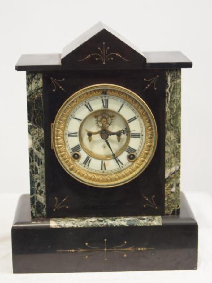 Antique Ansonia open escapement mantle clock