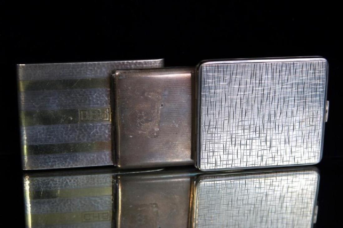 3 Vintage Silver plate cigarette cases