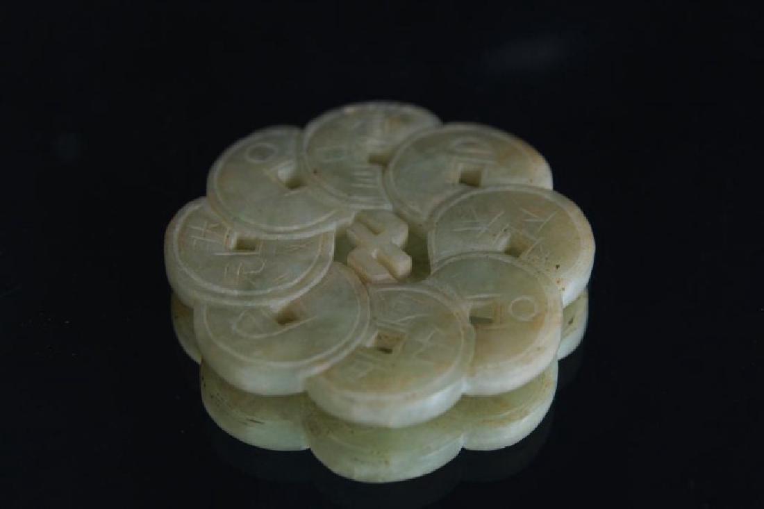 Chinese Jade pendants - round - 10