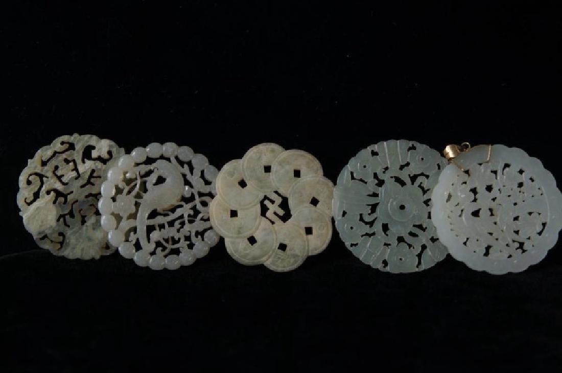 Chinese Jade pendants - round