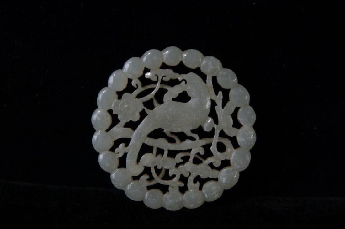 Chinese Jade pendants - round - 3