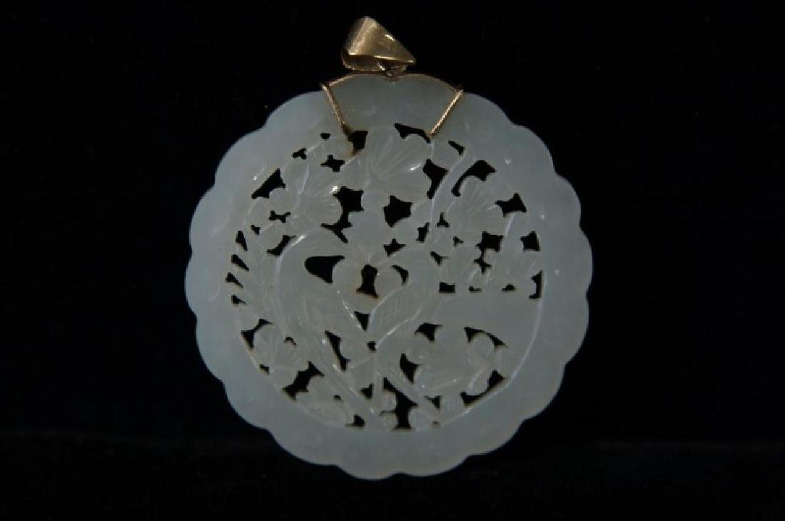 Chinese Jade pendants - round - 5