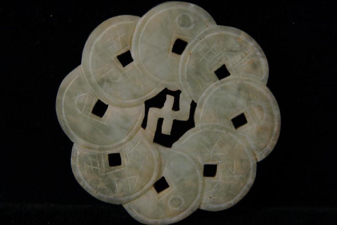 Chinese Jade pendants - round - 7