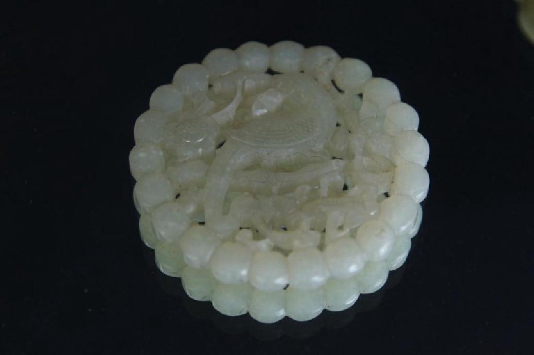 Chinese Jade pendants - round - 9