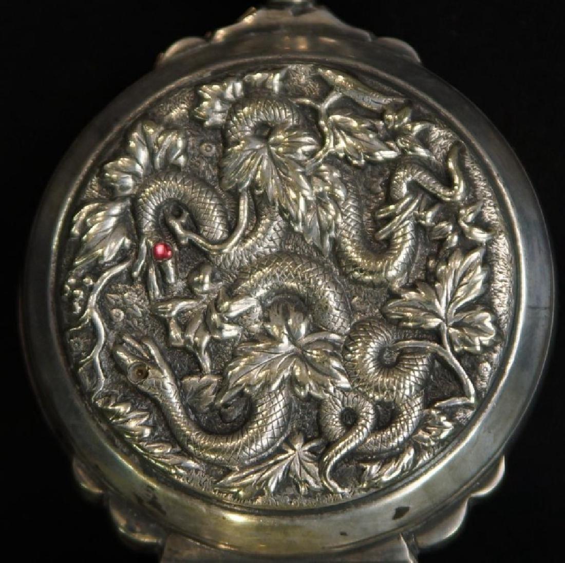 Rare prohibition Chinese silver hidden jigger - 4