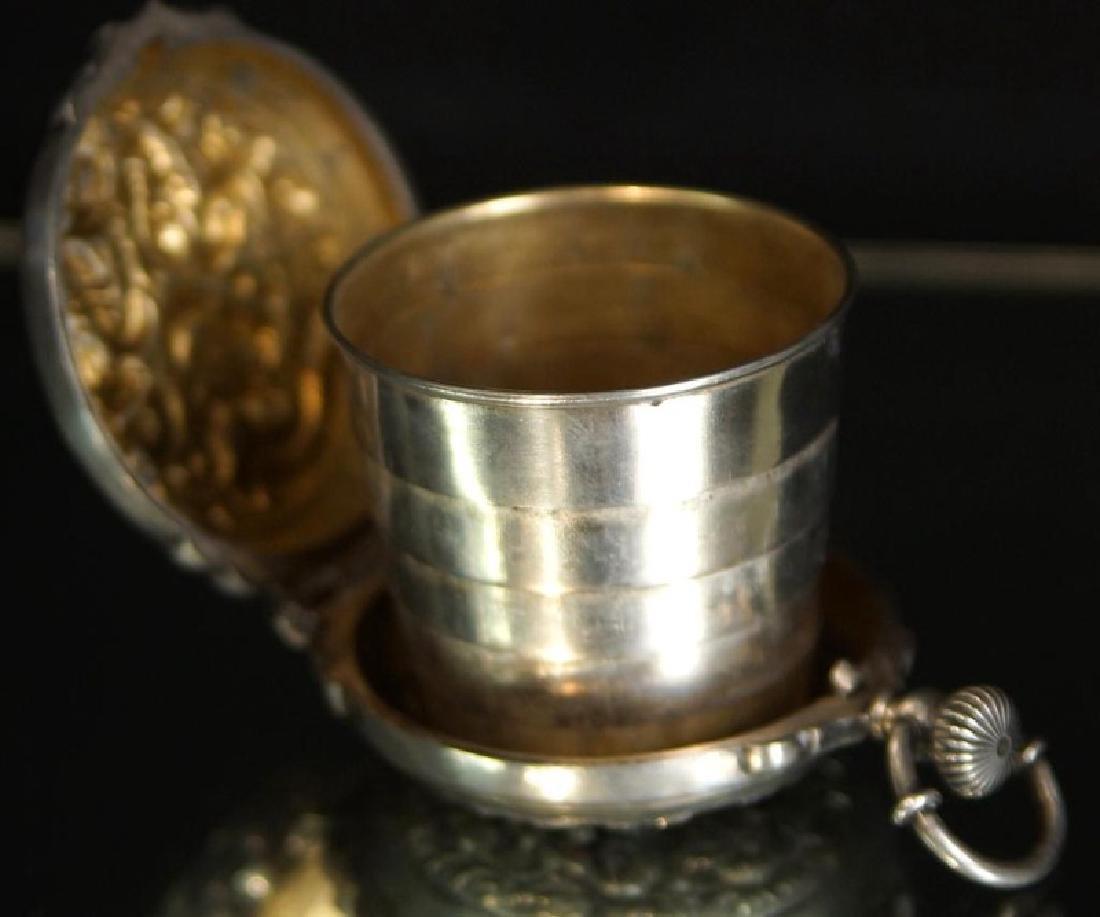 Rare prohibition Chinese silver hidden jigger - 5