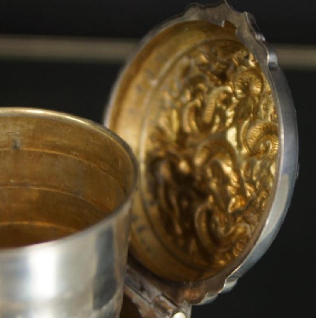 Rare prohibition Chinese silver hidden jigger - 7