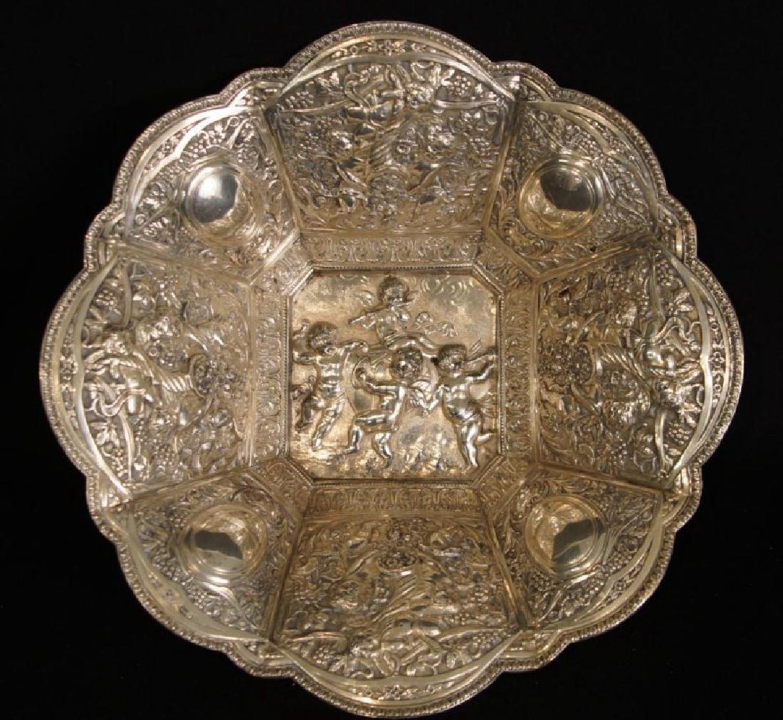 Antique Silver Repoussé basket