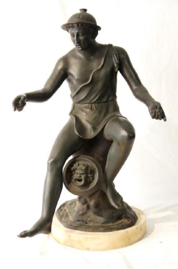 19th cent Bronze Depicting Mercury