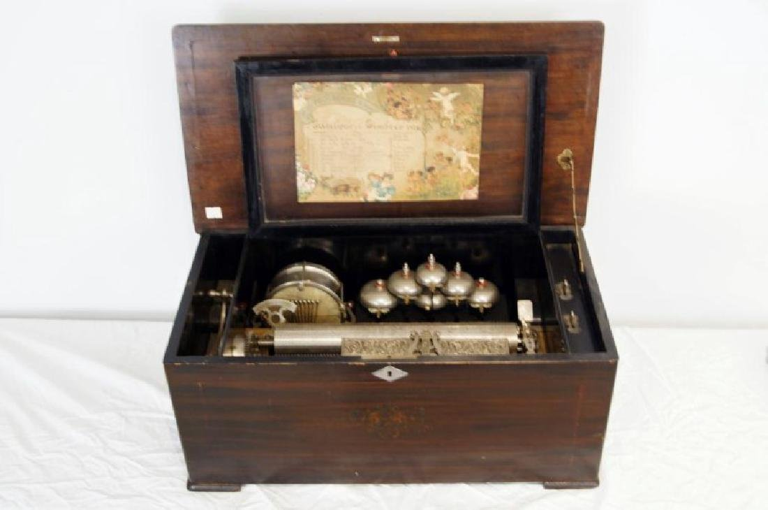 19th c. Swiss Orchestral music box -10 tune - 2