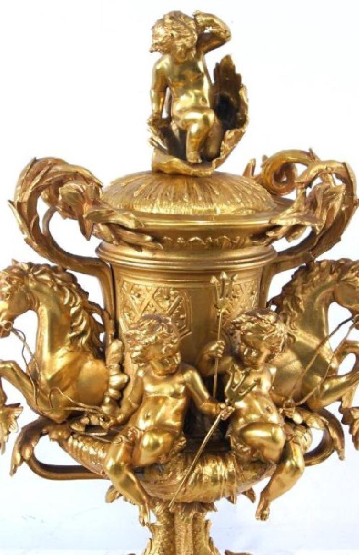 Dore bronze center piece w Cherubs - 2