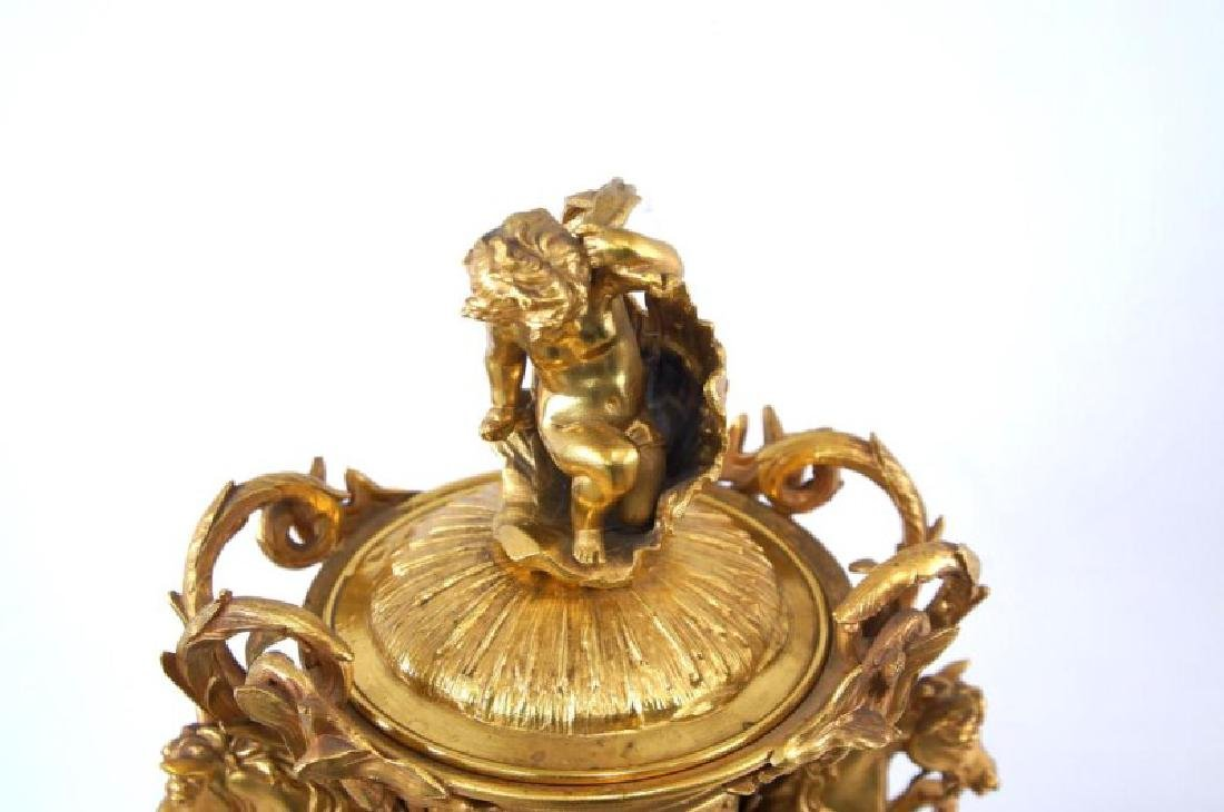 Dore bronze center piece w Cherubs - 6