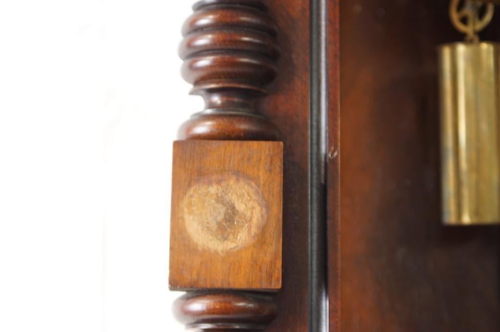 Antique Vienna regulator clock - Carved Mahogany Case - 10