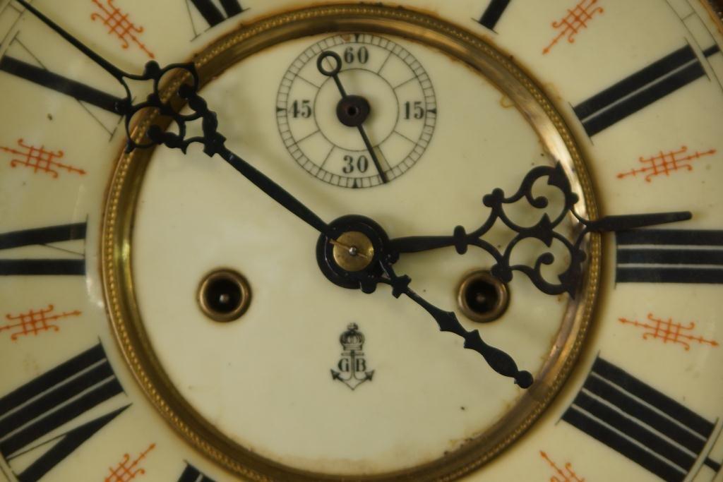 Antique Vienna regulator clock - Carved Mahogany Case - 4