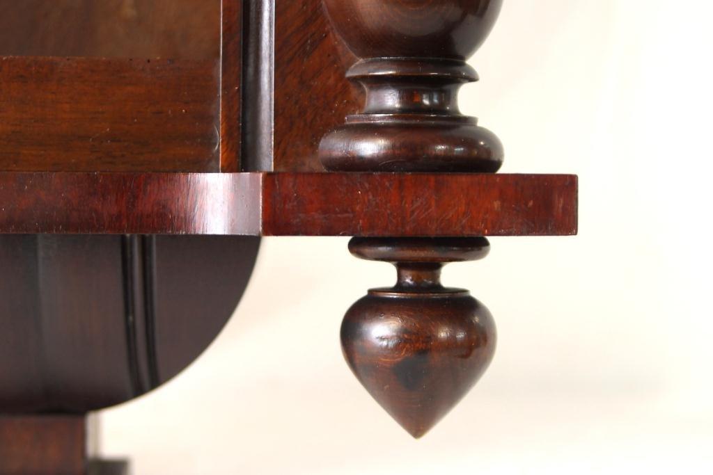 Antique Vienna regulator clock - Carved Mahogany Case - 5