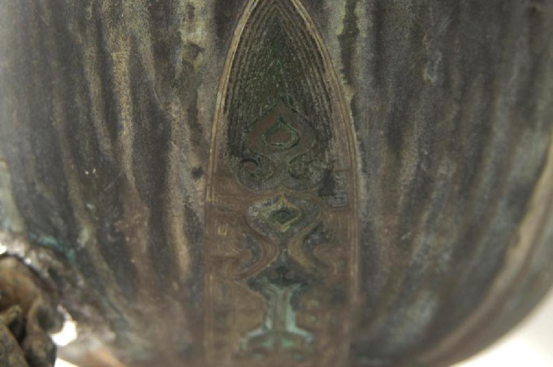 Chinese bronze Samovar - Dragon spiget - 10
