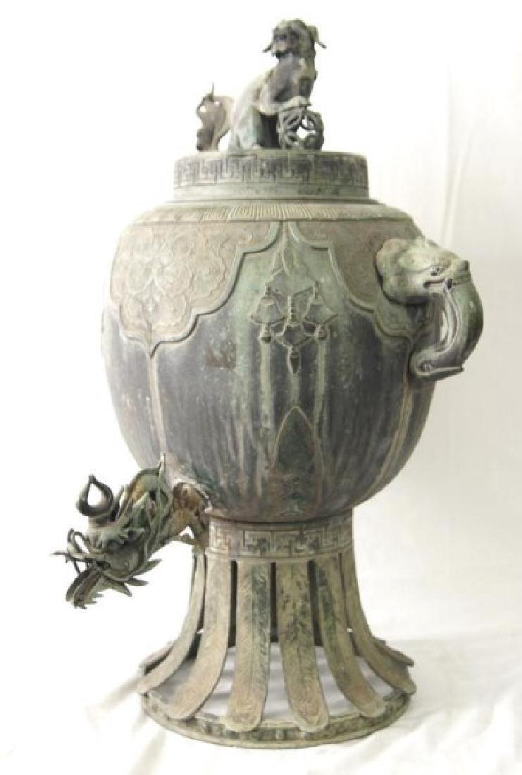 Chinese bronze Samovar - Dragon spiget