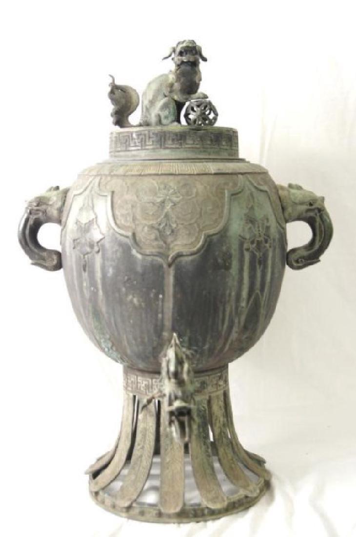 Chinese bronze Samovar - Dragon spiget - 2