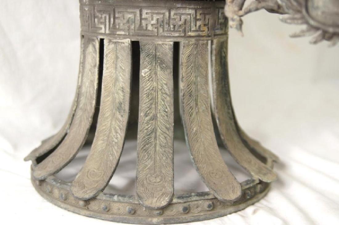 Chinese bronze Samovar - Dragon spiget - 4