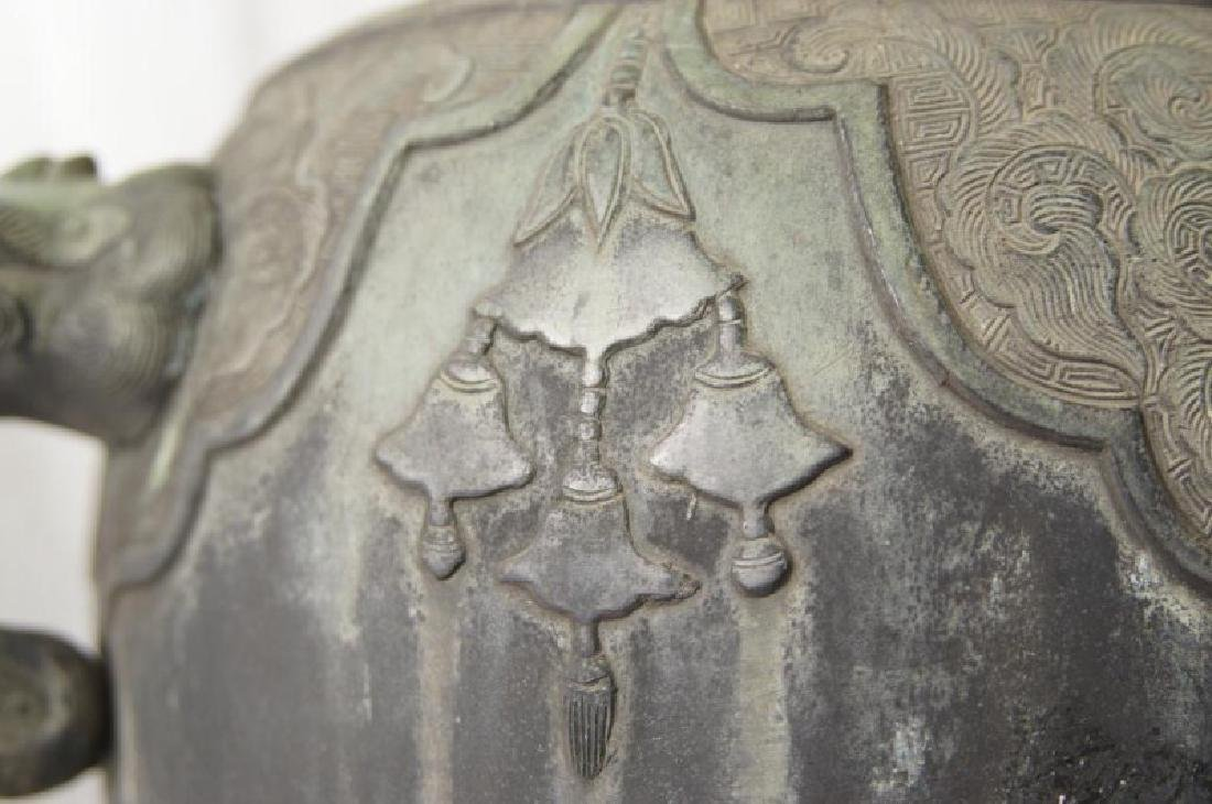 Chinese bronze Samovar - Dragon spiget - 6