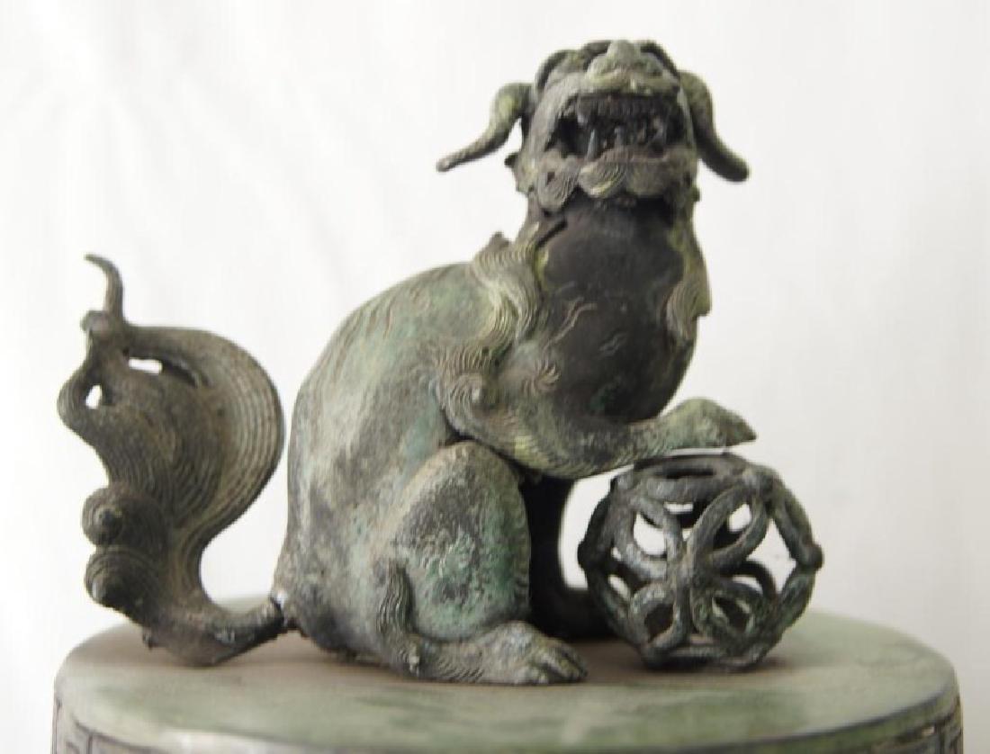 Chinese bronze Samovar - Dragon spiget - 8