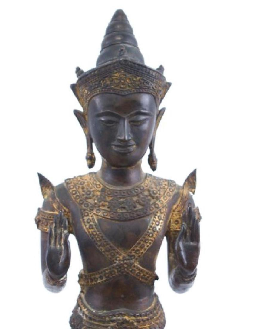Antique Thai bronze Buddha - 2