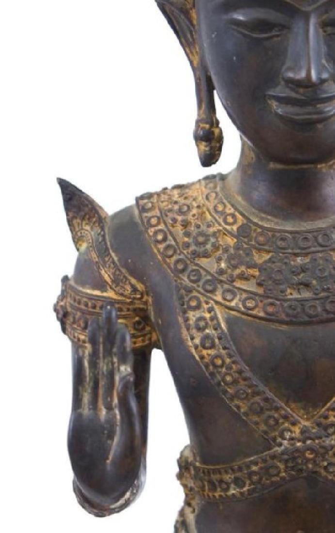 Antique Thai bronze Buddha - 3