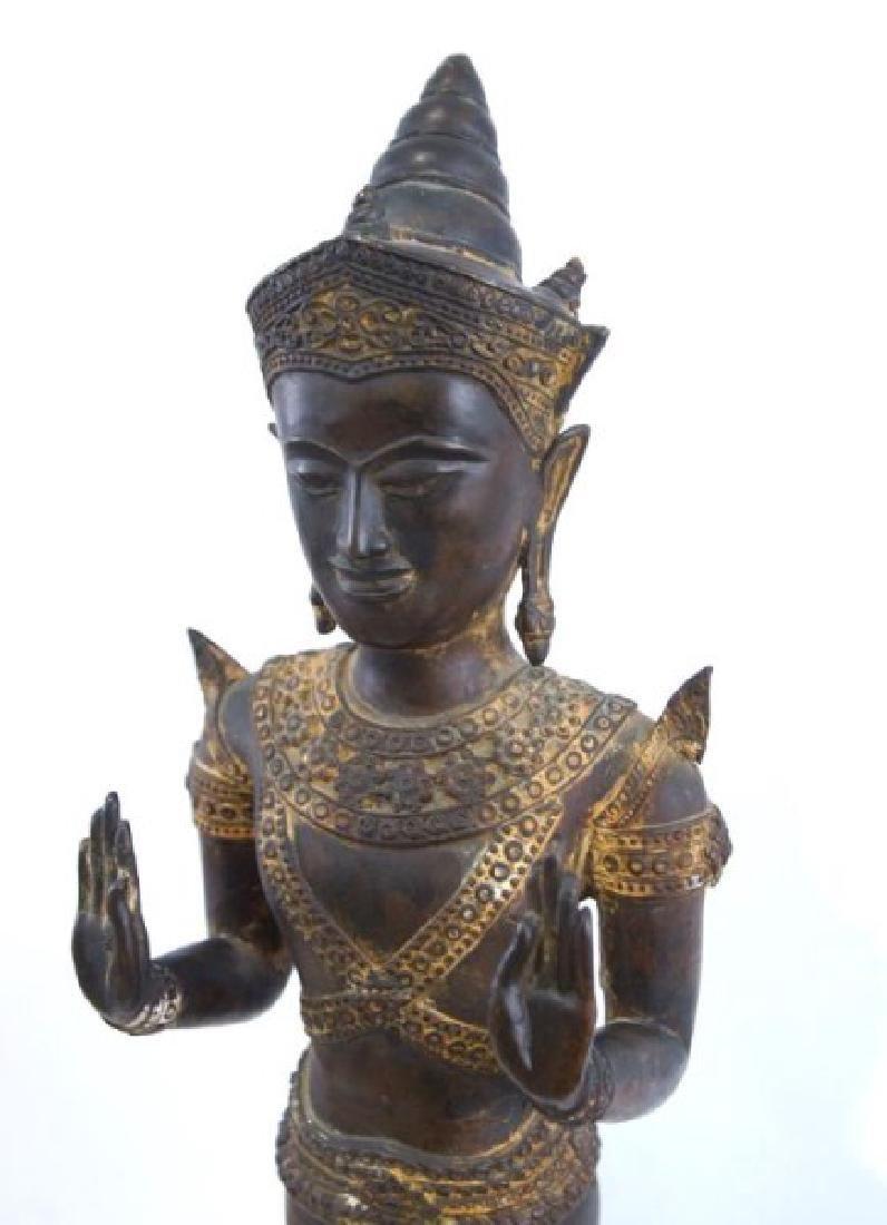 Antique Thai bronze Buddha - 6