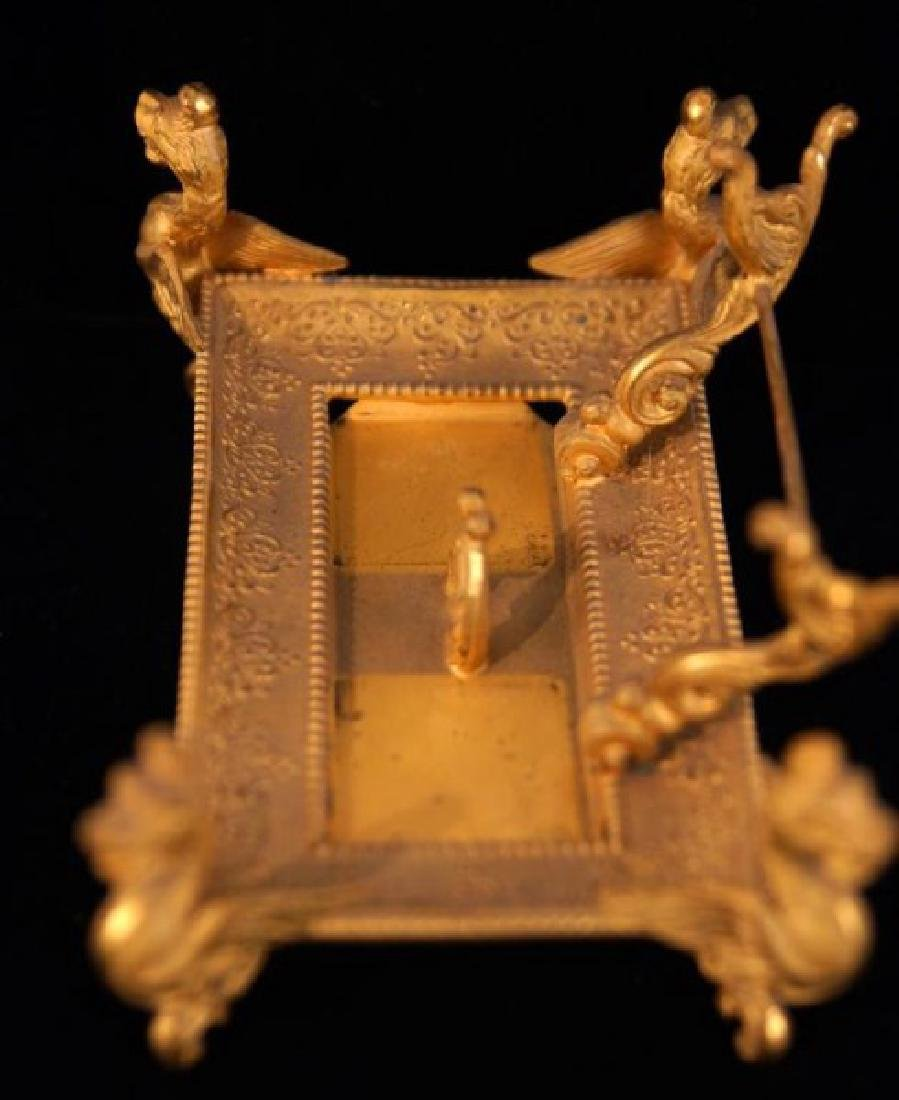 Dore bronze desk set with crystal inkwells - 8