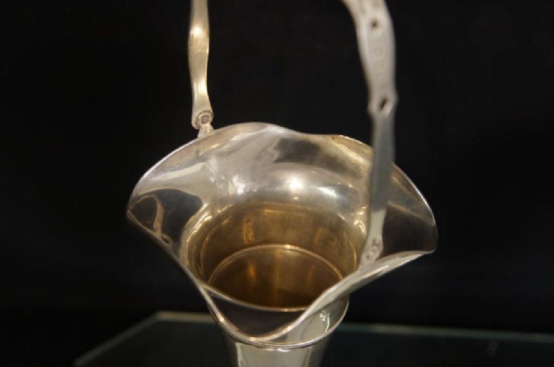 Sterling Silver trumpet vase & basket - 5