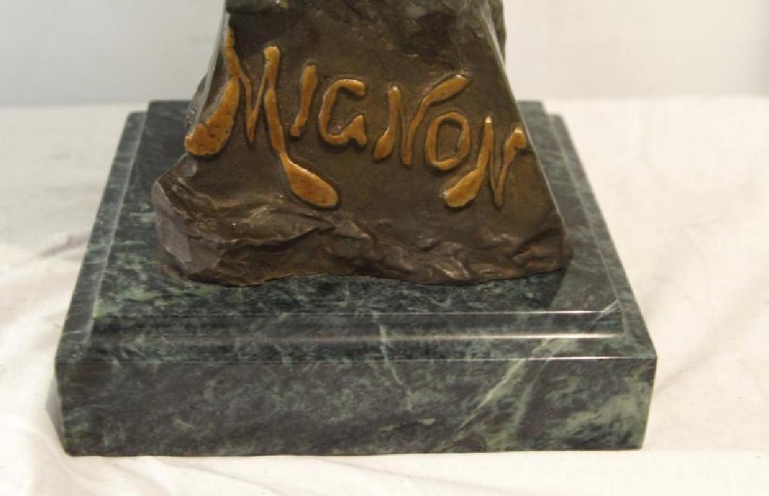 "Emmanuel Villanis (1858-1914) Bronze Bust 'Mignon"" - 5"
