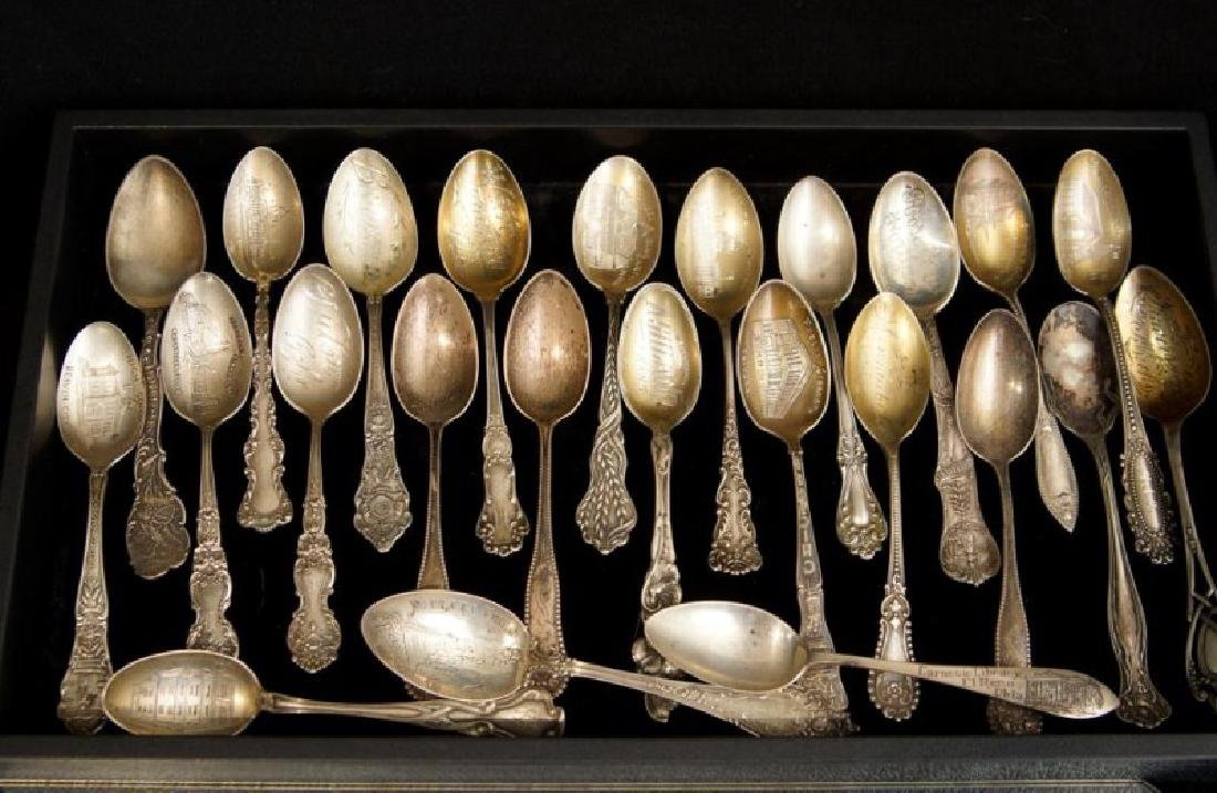 Sterling spoons collection - 24 pcs