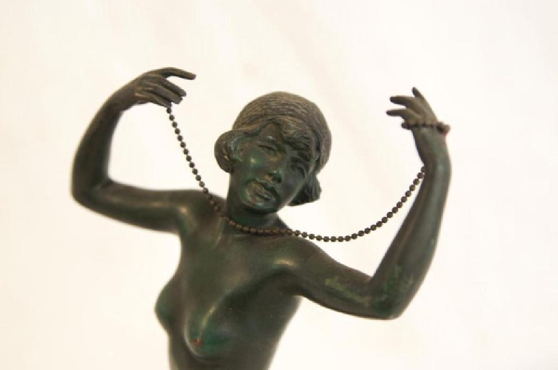 Art Deco nude bronze statue - 3