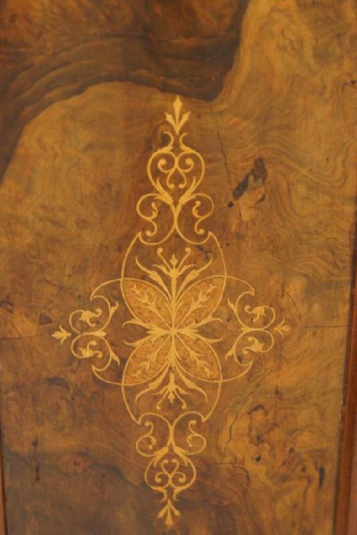 19th cent Marble top inlaid sideboard - 10