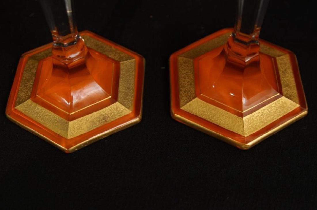 Antique French Art glass centerpiece set - 5