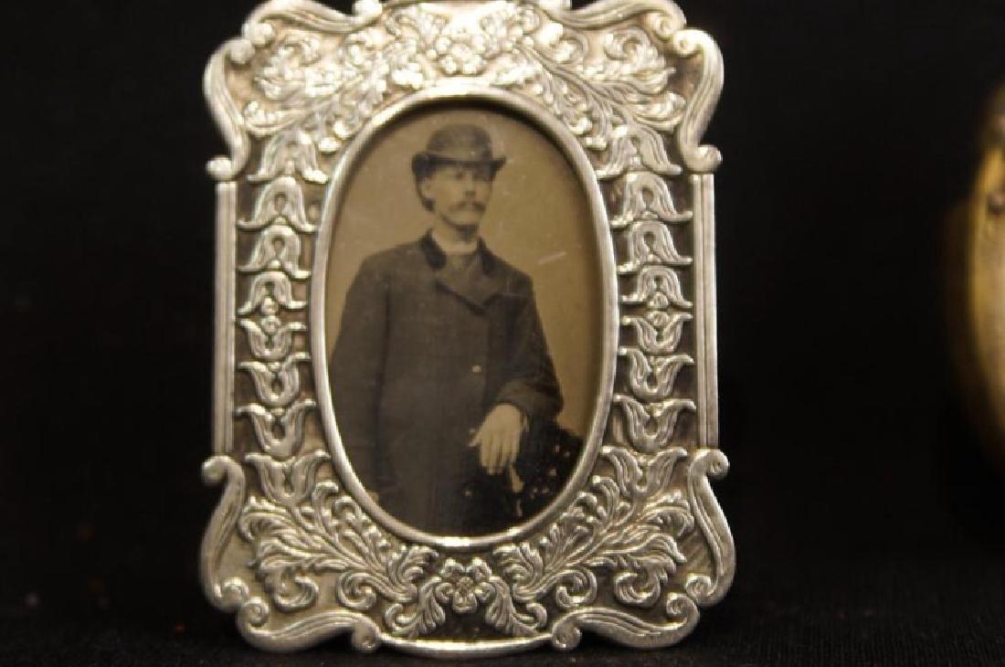 Antique mini picture Frames - 5 pcs 5  Antique silver
