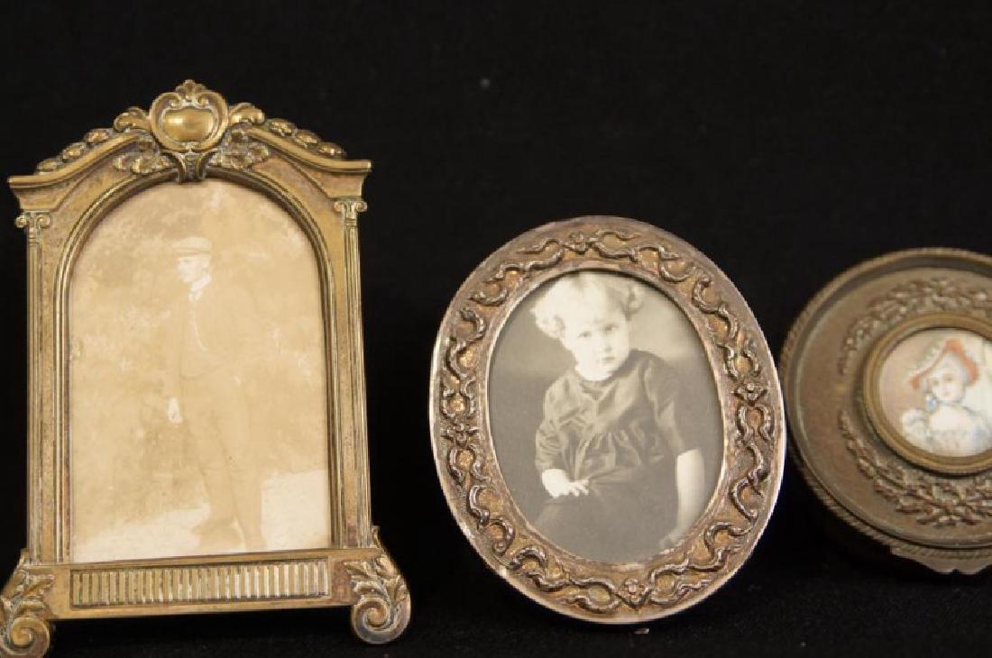 Antique mini picture Frames - 5 pcs 5  Antique silver - 3