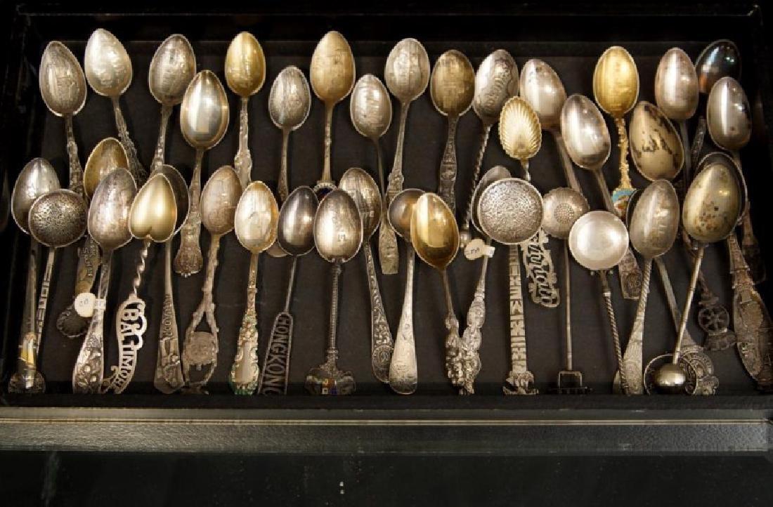 Demitasse sterling & silver plate spoons