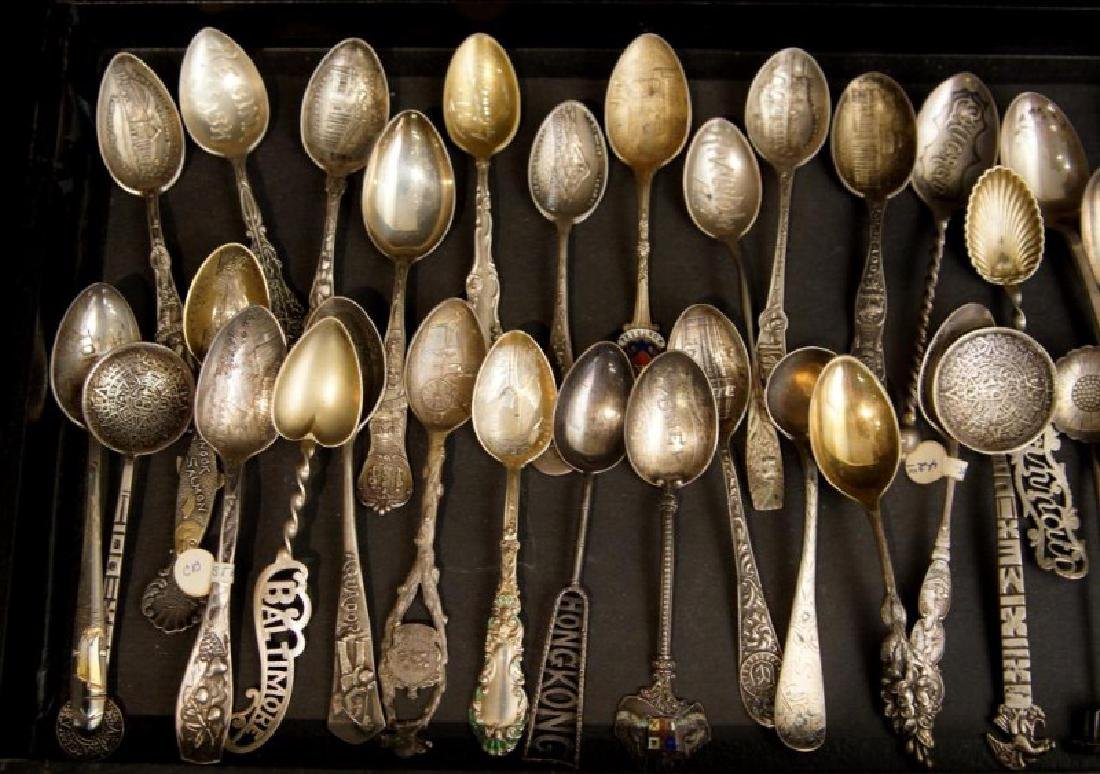 Demitasse sterling & silver plate spoons - 2