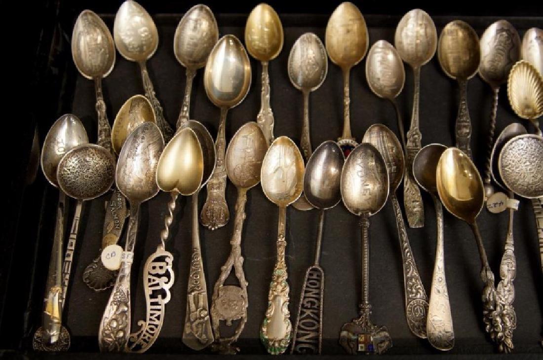 Demitasse sterling & silver plate spoons - 4