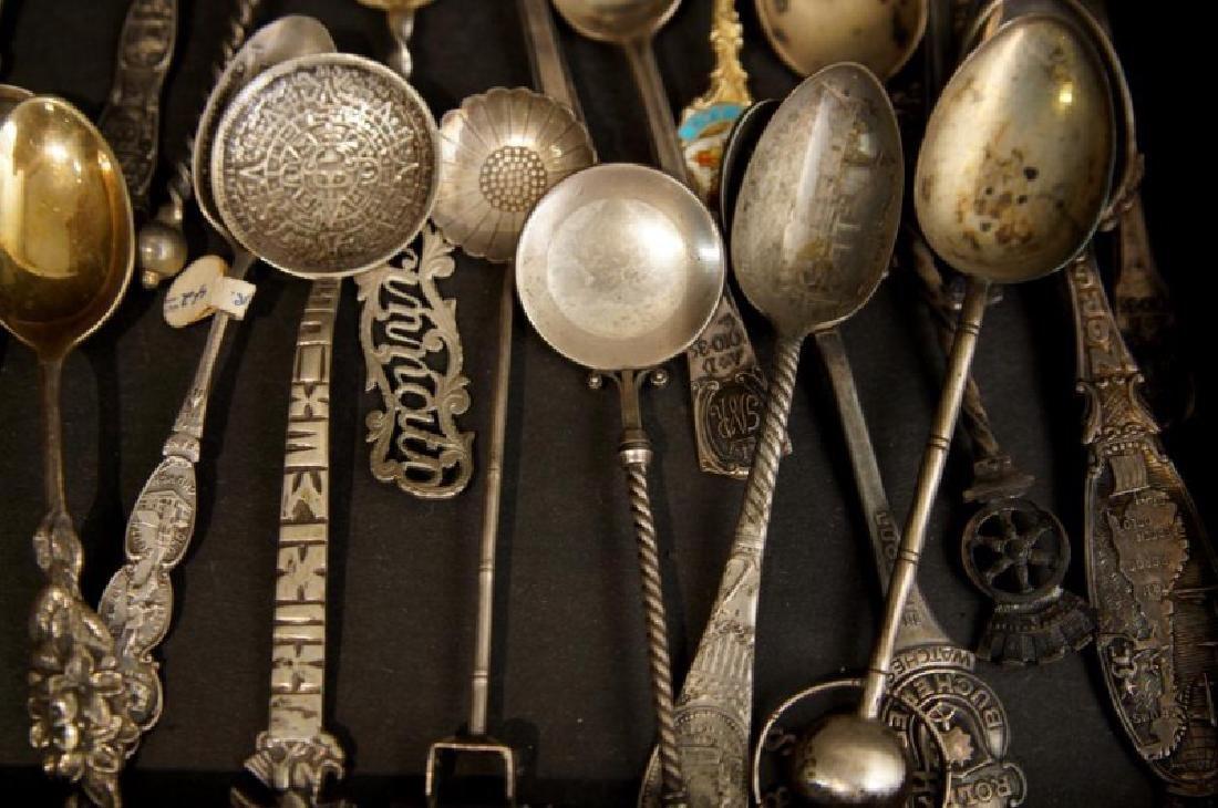 Demitasse sterling & silver plate spoons - 8