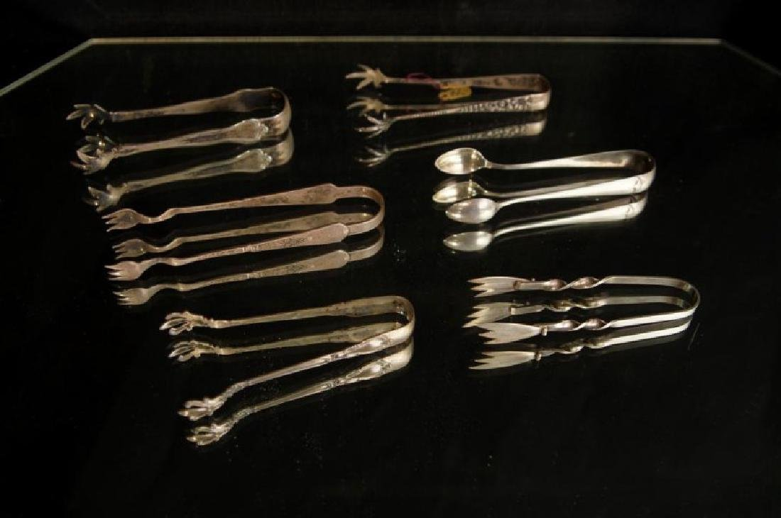Sterling and silver plate tongs - 2