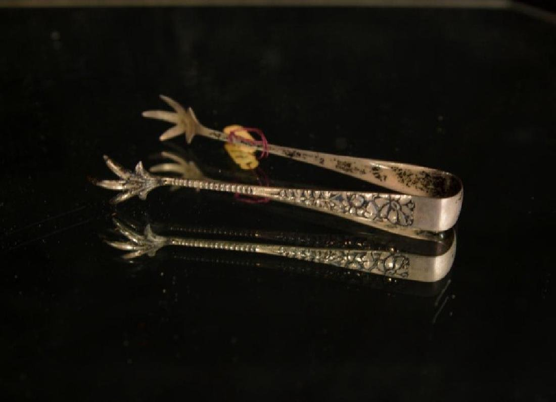 Sterling and silver plate tongs - 4