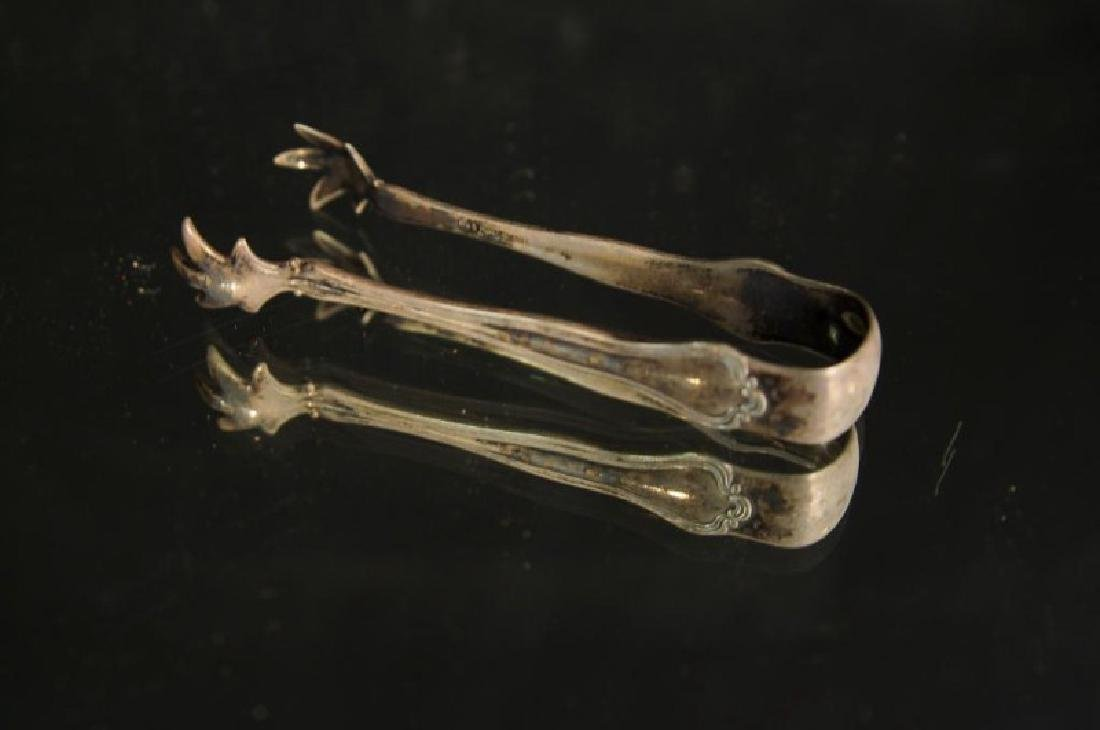 Sterling and silver plate tongs - 8