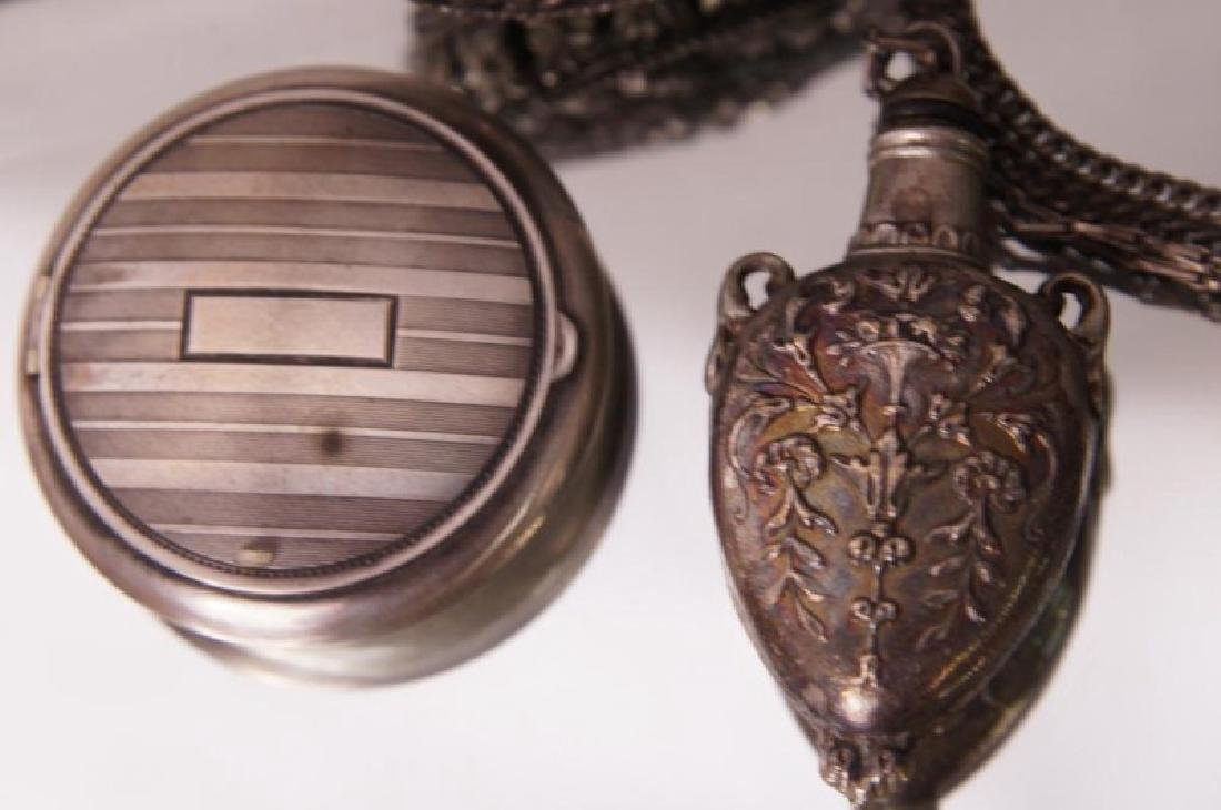 Filigree pendant snuffs, carved beaded necklace - 7